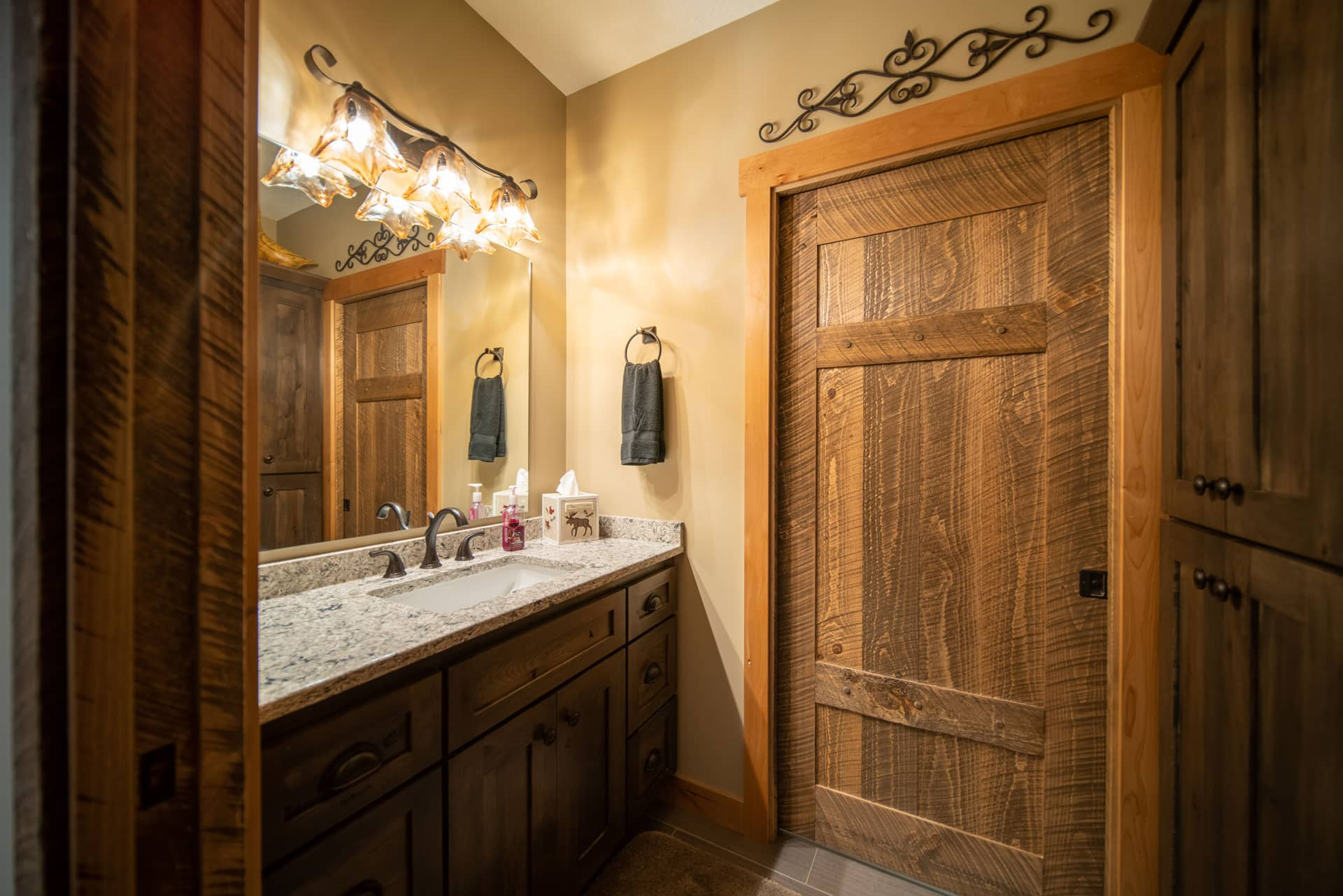 Bathroom Barnwood Door