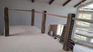 Butte, Montana Project - Barnwood Ceiling Beams and Railing